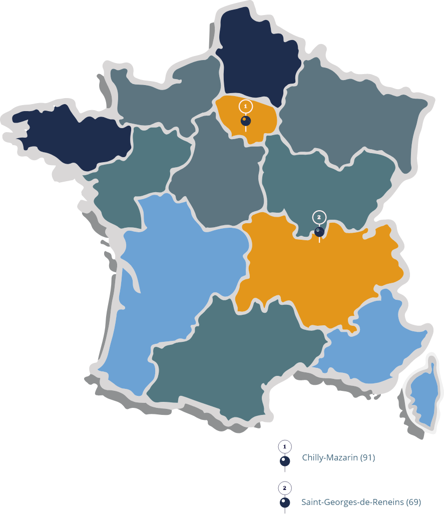 carte de france localisation infraneo